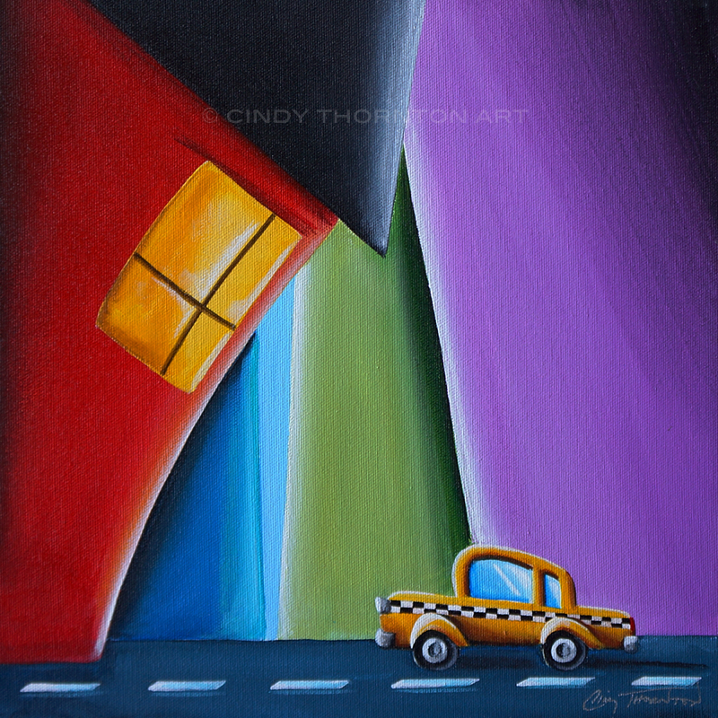 Tiny Taxi - Cindy Thornton Art
